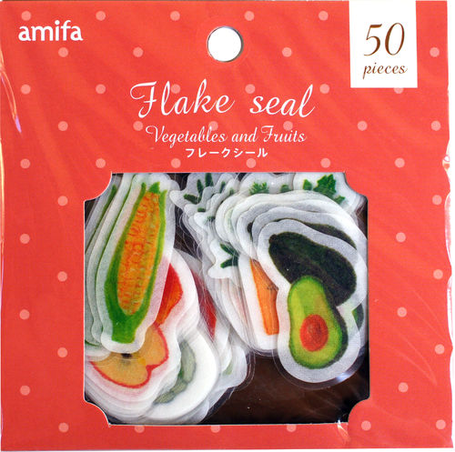 Flake Seal Vegetables and Fruits / Sticker / Aufkleber