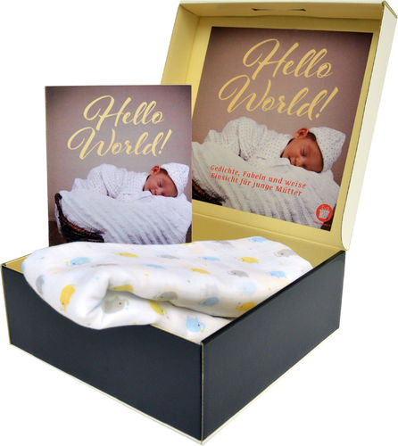 Hello World - Baby Geschenkbox