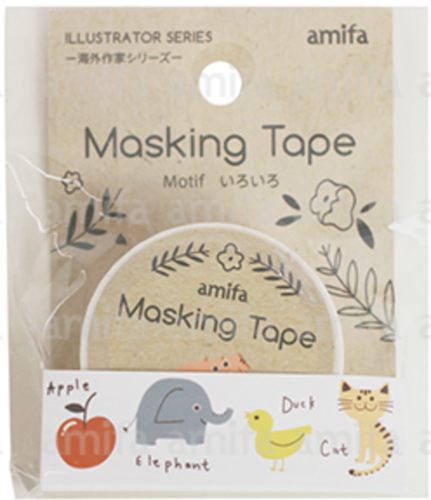 Illustrator mixed Tiere, Washi Tape
